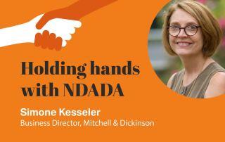 Simone Kesseler Holding Hands with NDADA